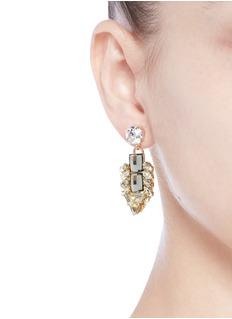 Anton Heunis'Double Pixel' Swarovski crystal drop earrings