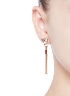 Anton Heunis'Dainty Drop' vintage glass stone leather cord earrings