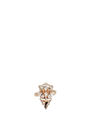 Main View - Click To Enlarge - Anton Heunis - Swarovski crystal glass stone floral cluster ring