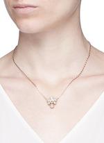 Swarovski crystal leaf pendant necklace
