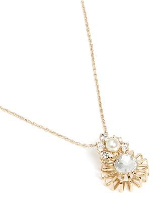 Anton Heunis-Swarovski crystal sunburst pendant necklace