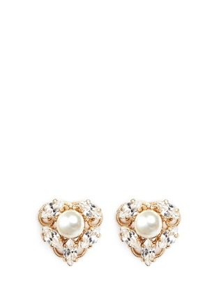 Main View - Click To Enlarge - Anton Heunis - Swarovski crystal pearl stud earrings