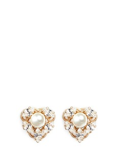 Anton Heunis Swarovski crystal pearl stud earrings