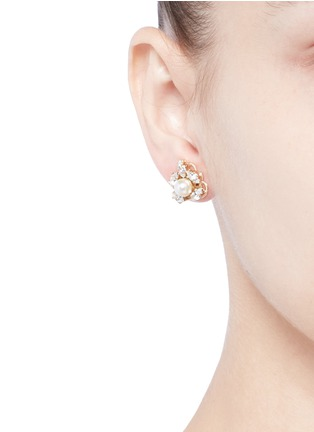 Figure View - Click To Enlarge - Anton Heunis - Swarovski crystal pearl stud earrings