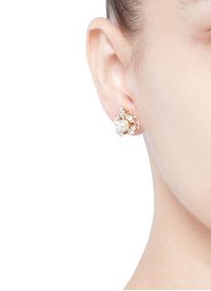 Anton HeunisSwarovski crystal pearl stud earrings
