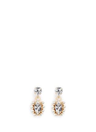 Main View - Click To Enlarge - Anton Heunis - Swarovski crystal pearl drop earrings
