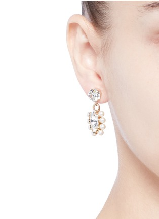Figure View - Click To Enlarge - Anton Heunis - Swarovski crystal pearl drop earrings