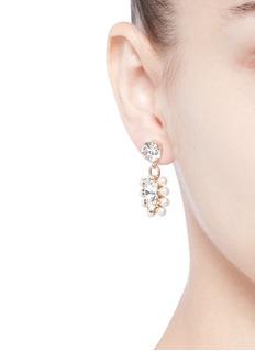 Anton HeunisSwarovski crystal pearl drop earrings