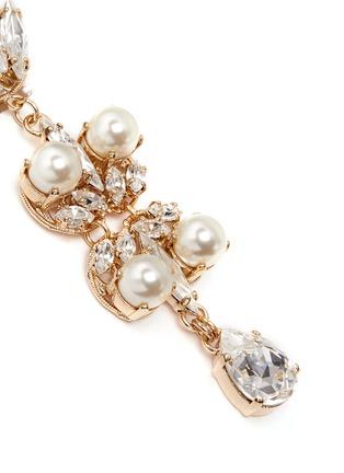 Detail View - Click To Enlarge - Anton Heunis - Swarovski crystal pearl teardrop earrings