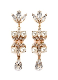 Anton Heunis Swarovski crystal pearl teardrop earrings