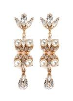 Swarovski crystal pearl teardrop earrings