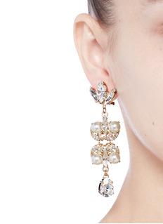 Anton HeunisSwarovski crystal pearl teardrop earrings