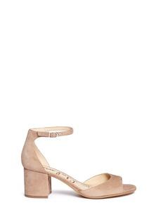 Sam Edelman'Susie' block heel ankle strap suede sandals