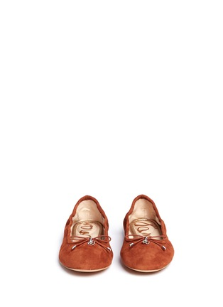 Front View - Click To Enlarge - Sam Edelman - 'Felicia' suede ballet flats