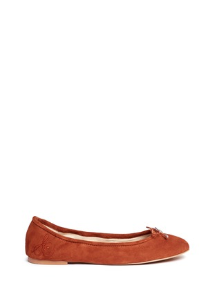 Main View - Click To Enlarge - Sam Edelman - 'Felicia' suede ballet flats
