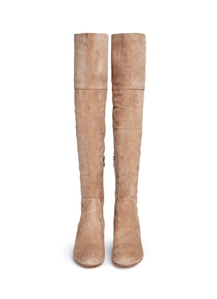 Front View - Click To Enlarge - Sam Edelman - 'Elina' suede thigh high boots