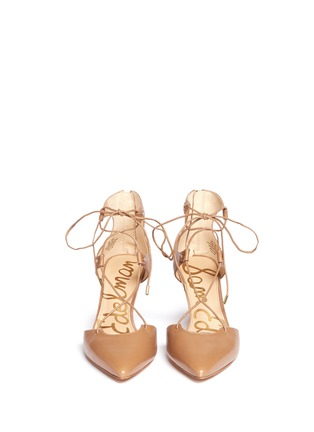 Front View - Click To Enlarge - Sam Edelman - 'Taylor' lace-up leather pumps
