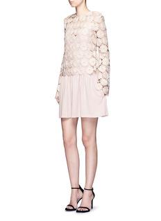 NicholasDaisy guipure lace top crepe dress