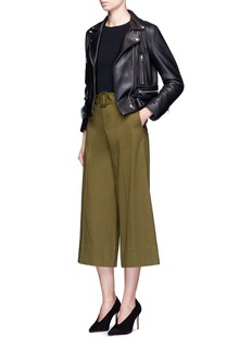 Nicholas Belted pintuck culottes