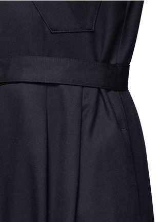 Detail View - Click To Enlarge - Hyke - 'Work' belted wide leg wool jumpsuit