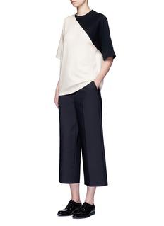 HykeColourblock wool blend top