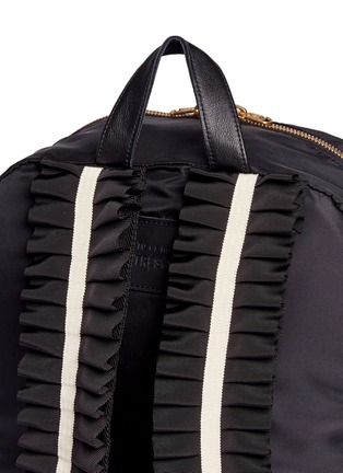 Detail View - Click To Enlarge - Tu Es Mon Trésor - 'Tuck' ribbon strap nylon backpack