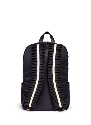 Back View - Click To Enlarge - Tu Es Mon Trésor - 'Tuck' ribbon strap nylon backpack