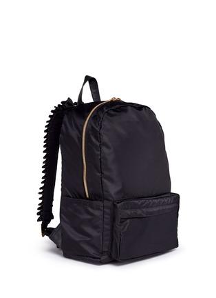 Front View - Click To Enlarge - Tu Es Mon Trésor - 'Tuck' ribbon strap nylon backpack