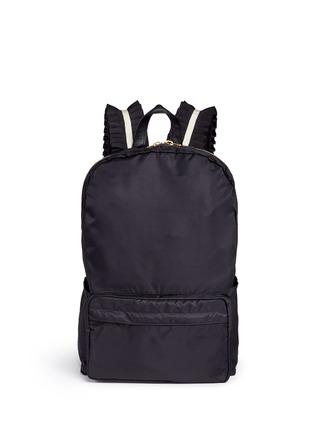 Main View - Click To Enlarge - Tu Es Mon Trésor - 'Tuck' ribbon strap nylon backpack