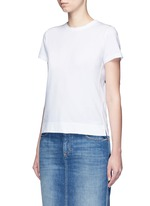 Ribbon appliqué jersey T-shirt