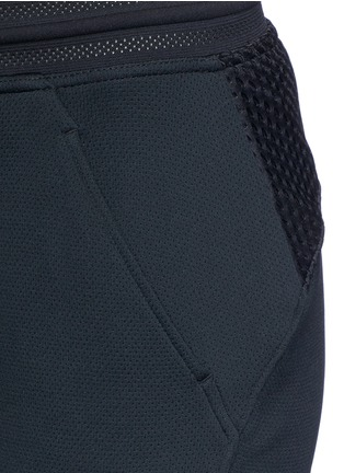 Detail View - Click To Enlarge - Nike - 'Nikecourt' hypermesh trim drawstring pants