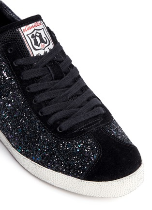 Detail View - Click To Enlarge - Ash - 'Guepard' glitter star trim leather sneakers