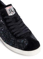 'Guepard' glitter star trim leather sneakers