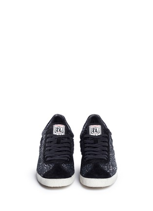Front View - Click To Enlarge - Ash - 'Guepard' glitter star trim leather sneakers