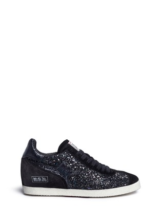 Main View - Click To Enlarge - Ash - 'Guepard' glitter star trim leather sneakers