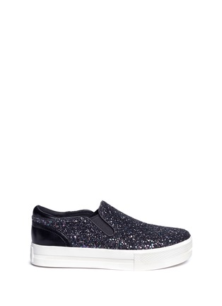 Main View - Click To Enlarge - Ash - 'Jungle Bis' glitter platform slip-ons