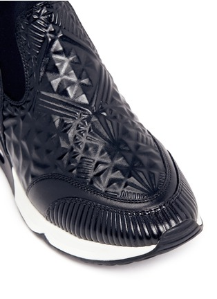 Detail View - Click To Enlarge - Ash - 'Legend' tribal embossed scuba sock sneakers