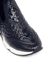 'Legend' tribal embossed scuba sock sneakers