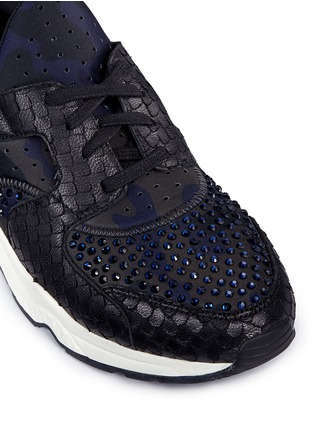 Detail View - Click To Enlarge - Ash - 'Mood' hotfix strass snakeskin effect camouflage sneakers