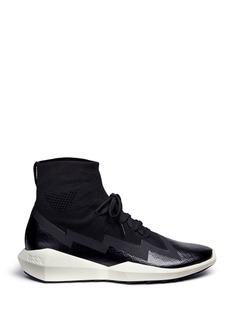 Ash'Quantum' geometric sole neoprene sneakers