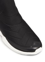 'Quid' geometric sole quilted neoprene sneakers