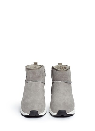 Front View - Click To Enlarge - Ash - 'Miko' shearling ankle boots