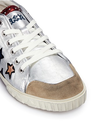 Detail View - Click To Enlarge - Ash - 'Majestic' star appliqué metallic leather sneakers