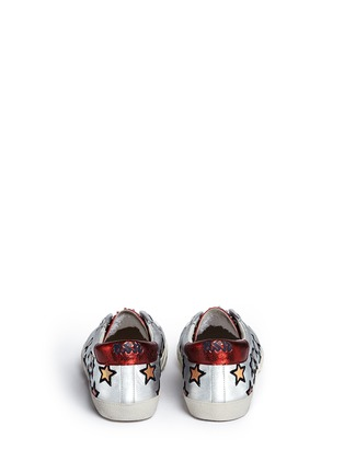 Back View - Click To Enlarge - Ash - 'Majestic' star appliqué metallic leather sneakers