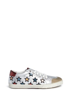 Ash 'Majestic' star appliqué metallic leather sneakers
