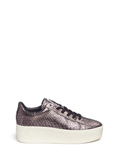 Ash 'Cult' snake effect metallic leather platform sneakers