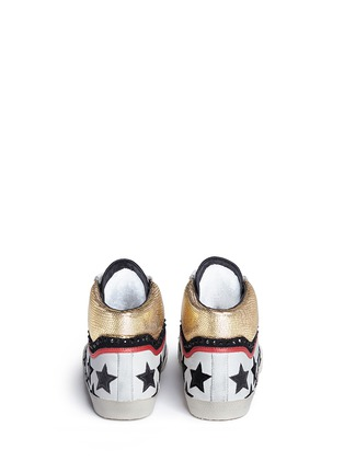 Back View - Click To Enlarge - Ash - 'Mikado' star appliqué metallic trim leather sneakers