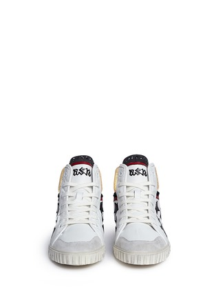 Front View - Click To Enlarge - Ash - 'Mikado' star appliqué metallic trim leather sneakers