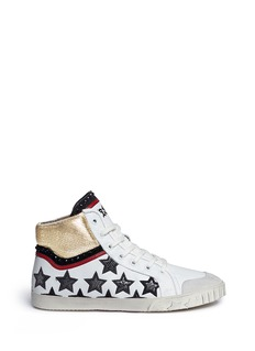 Ash 'Mikado' star appliqué metallic trim leather sneakers