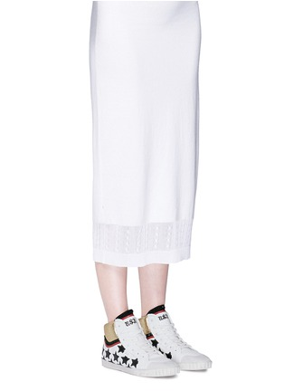 Figure View - Click To Enlarge - Ash - 'Mikado' star appliqué metallic trim leather sneakers